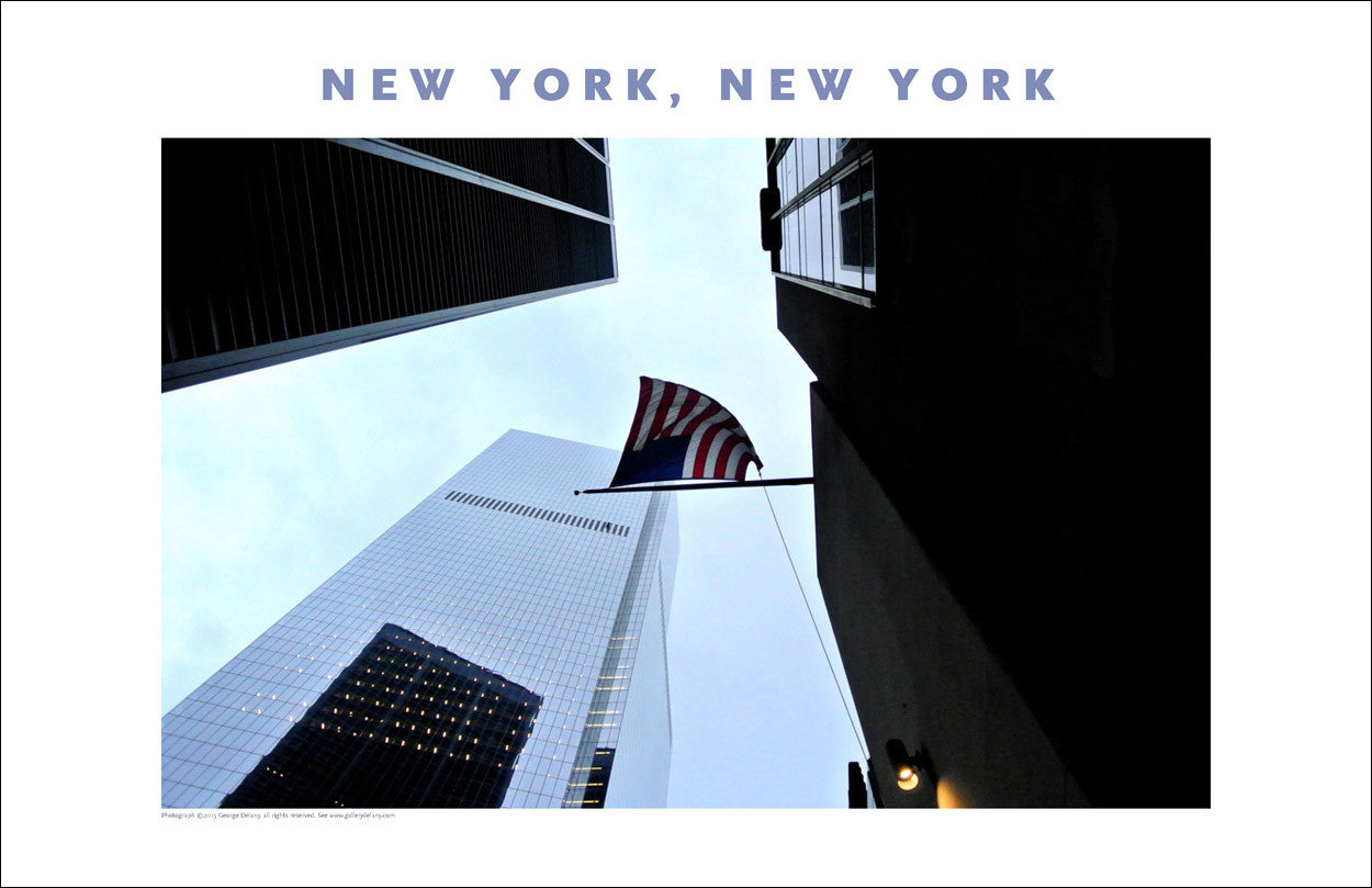 American Flag, Financial District, New York Photo Poster Collection #404
