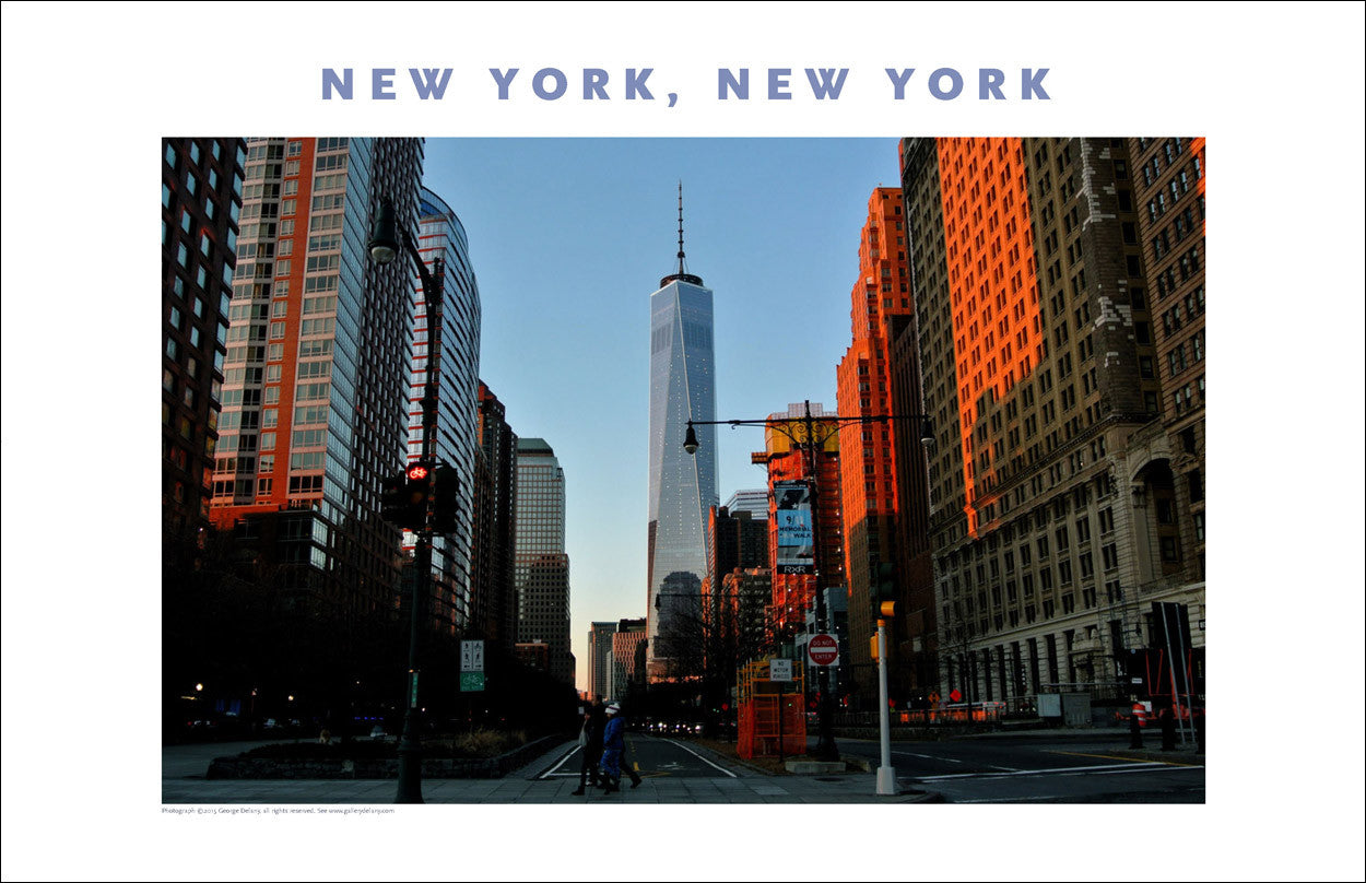 View of Freedom Tower at Dusk, New York Photo Poster Collection #415