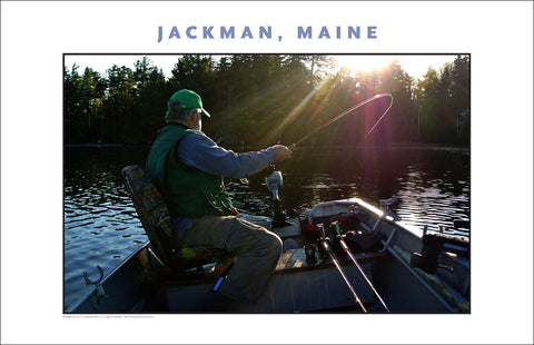 Fisherman as Hero, Jackman Maine, Place Photo Poster Collection #445