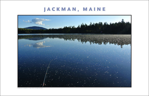 Early Morning on Water, Fish at Jackman Maine, Place Photo Poster Collection #446