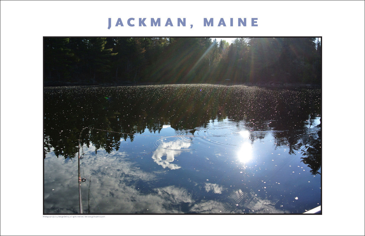 Fishing in the Early Morning, Jackman Maine, Place Photo Poster Collection #447