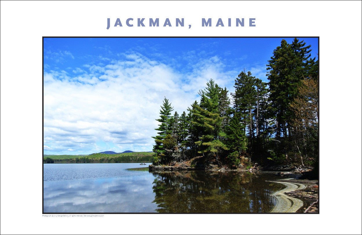 Morning Fishing, Jackman Maine Region, Place Photo Poster Collection #448