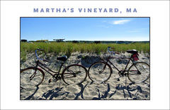 Bikes at Beach, Martha's Vineyard Home Decor, Wall Art #489
