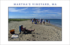 Lazy Afternoon at Beach, Martha's Vineyard Wall Art #490