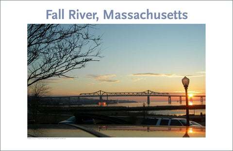 Sunset at Fall River, MA Photo Poster Collection on Canvas #53