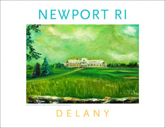 Work in Oil Home Decor Print  #569 Newport Country Club, Newport, RI