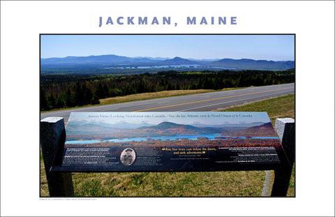 Scenic Overview... Jackman Maine, Place Photo Poster Collection #630