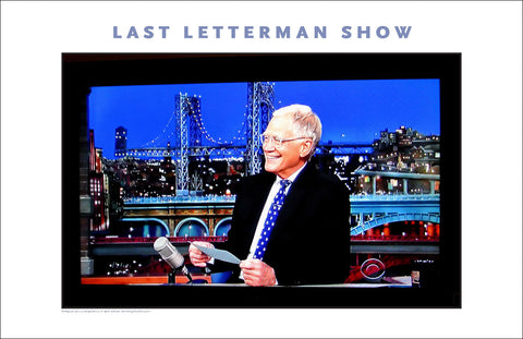 Dave Letterman's Last TV Program, #walldecor #638