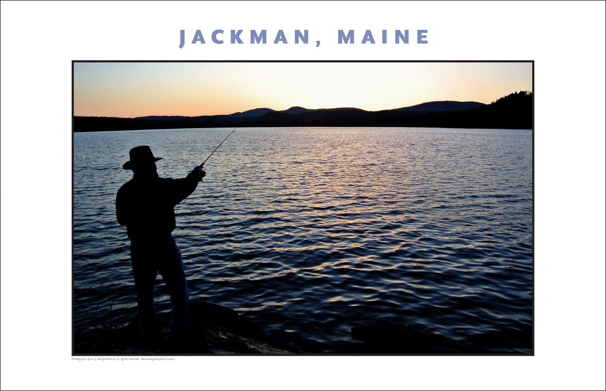 Trout Fishing at Dusk... Jackman Maine, Place Photo Collection #648