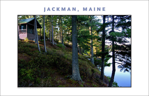 Camp on Water, Jackman Maine, Place Photo Poster Collection #653