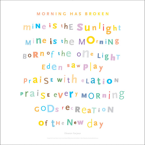 Morning Has Broken, 3rd Verse, #walldecor #665