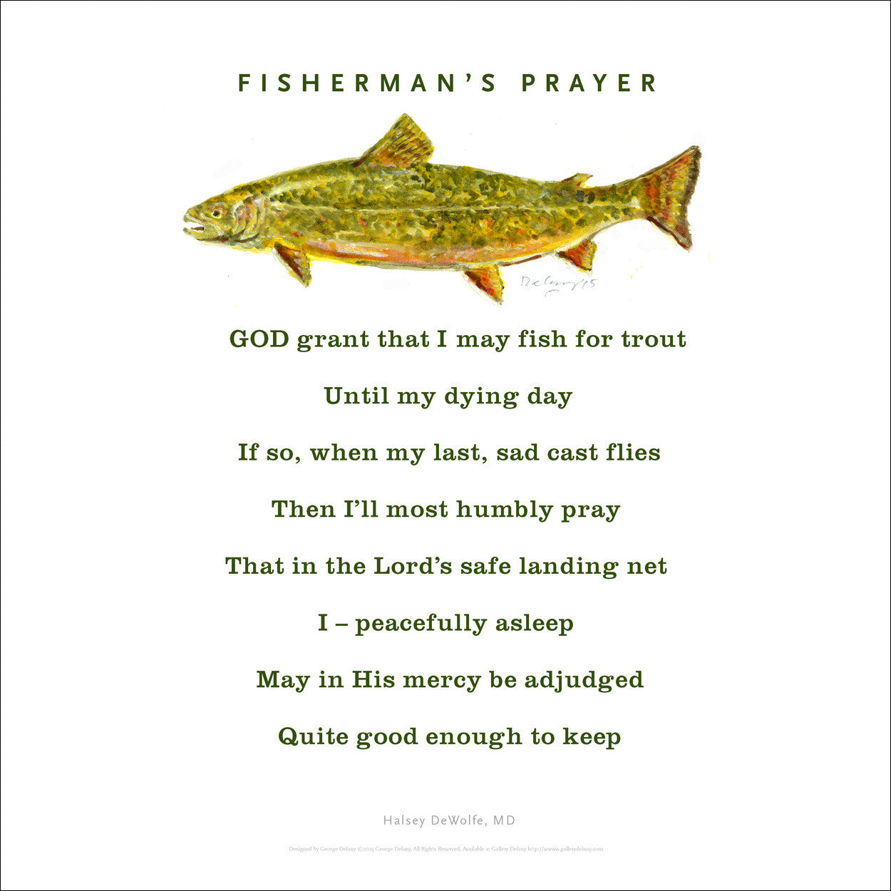 Fisherman's Prayer, Wall Art 666