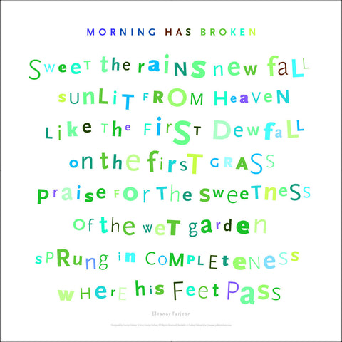 Morning Has Broken, 2nd Verse, #walldecor #667