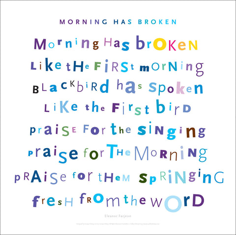Morning Has Broken Wall Art, 1st Verse, #walldecor #668