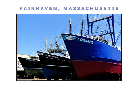 Wall Art, Boats in Fairhaven, MA Digital Photo #706