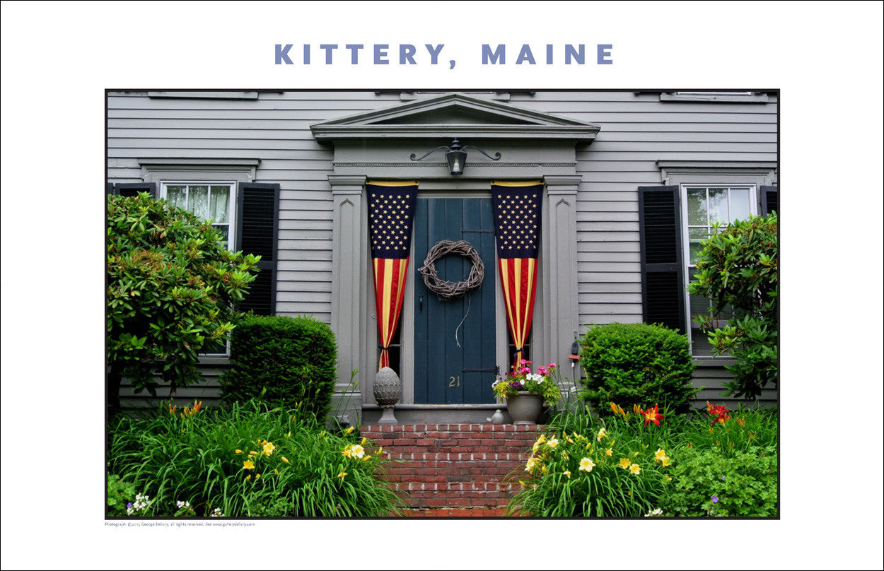 Patriotic House at Kittery Maine... Photo Collection #744