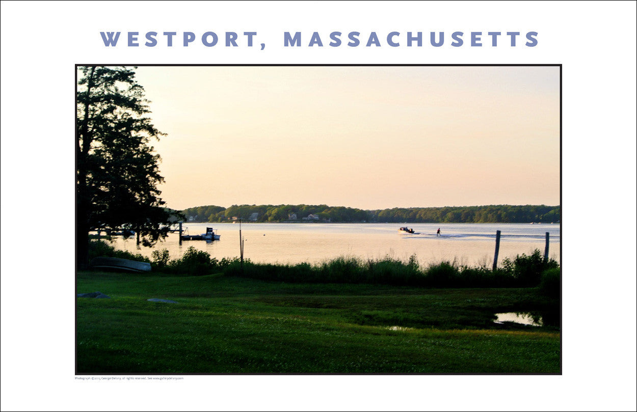Wall Art, Water Skiing at Dusk on the Westport River... Photo Collection #750