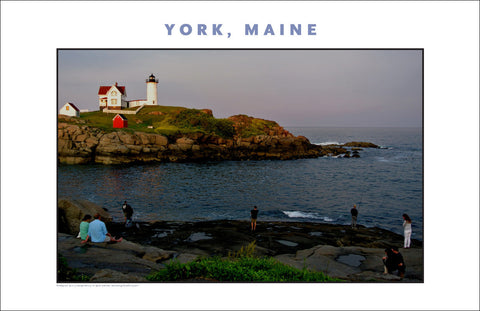 York, Maine at Sundown... Nubble Light, Photo Collection #754