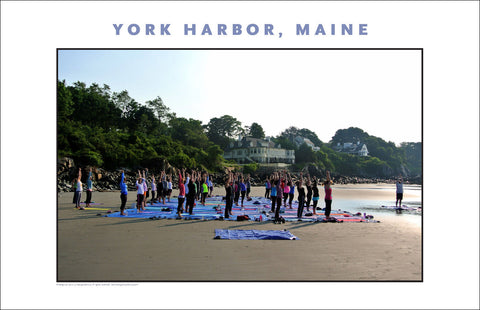 Stretch...Morning Yoga at York Harbor, Maine...#770