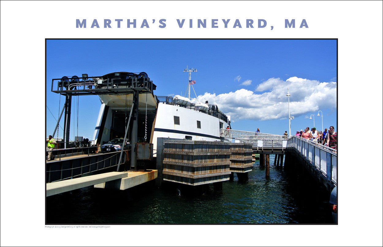 Disembarking... Oak Bluffs, Martha's Vineyard...#773