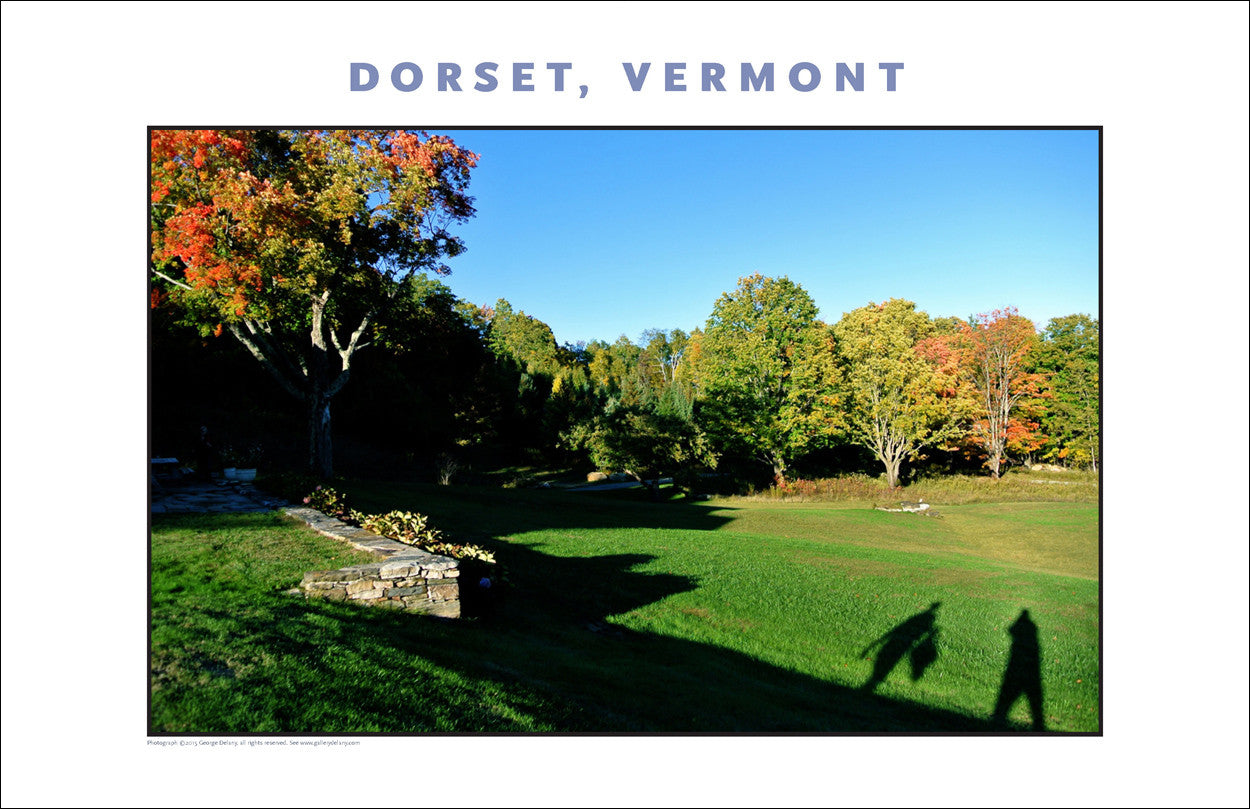 Two Shadows on a Late Afternoon Walk, Dorset, Vermont, Collection #824
