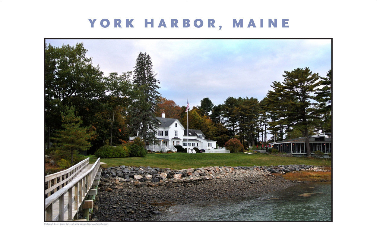 View from Dockside, York Harbor, Maine...#835