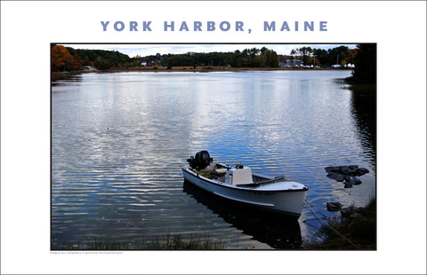 Boat on Salt Pond, York Harbor, Maine...#839