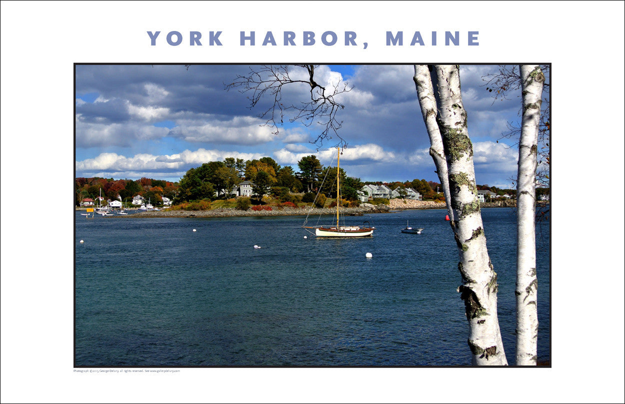 October, Time to Put the Boat Away, York Harbor, Maine...#840