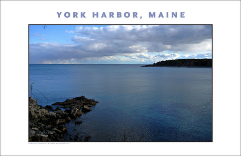 A Little Ominous in the Air, View at York Harbor, Maine #847