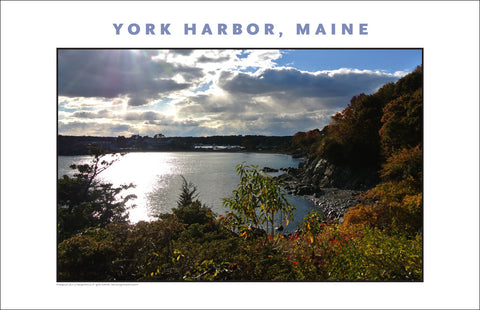 View of York Harbor Far Off, Maine #848