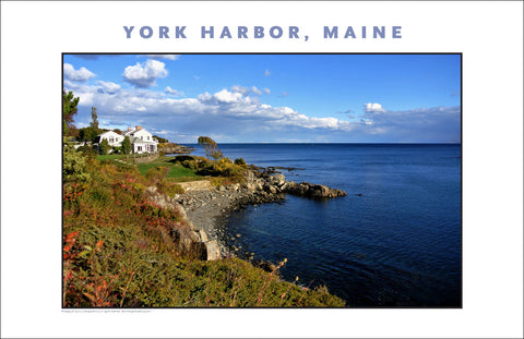 Waterfront in Morning Light, View of York Harbor, Maine #849