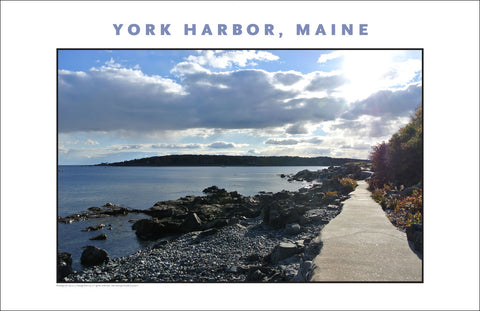 Waterfront Walkway at York Harbor, Maine #852