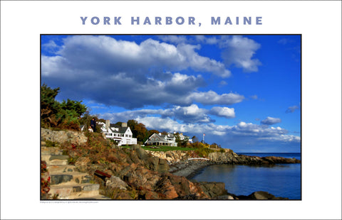 What a Morning on Waterfront at York Harbor, Maine #853