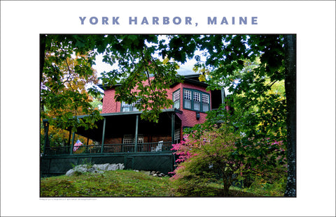 Nestled in Woods, Charming Old Place at York Harbor, Maine #855