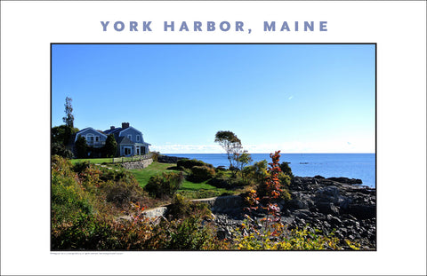 Fall Morning, Waterfront Vision at York Harbor, Maine #858