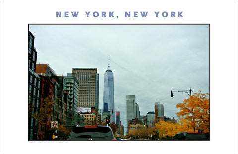 Fall in Air, Freedom Tower in Distance, New York City Photo Art #867