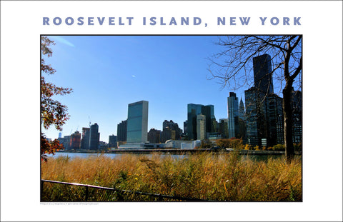 Roosevelt Island, United Nations in Sight, New York City Photo Art #878