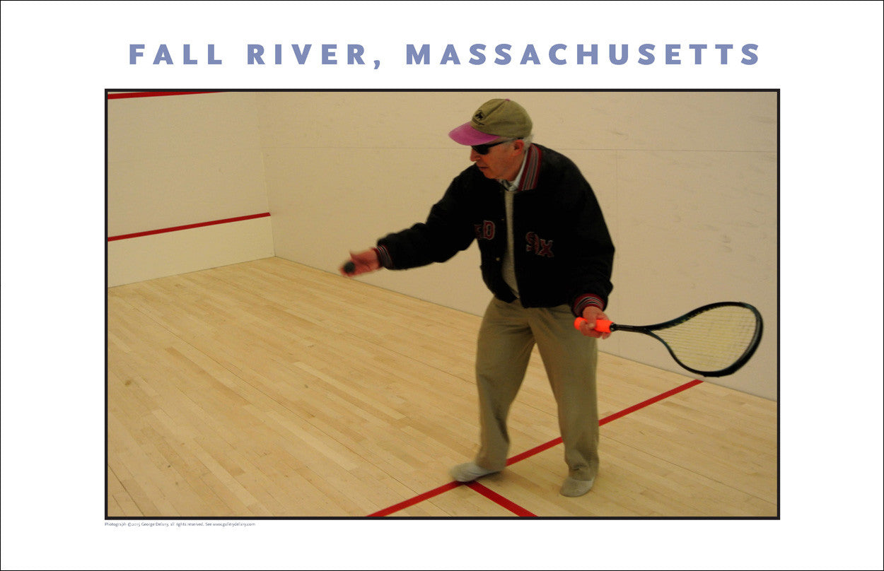 Wall Art, Talented Squash Man...at the YMCA Photo Collection #892