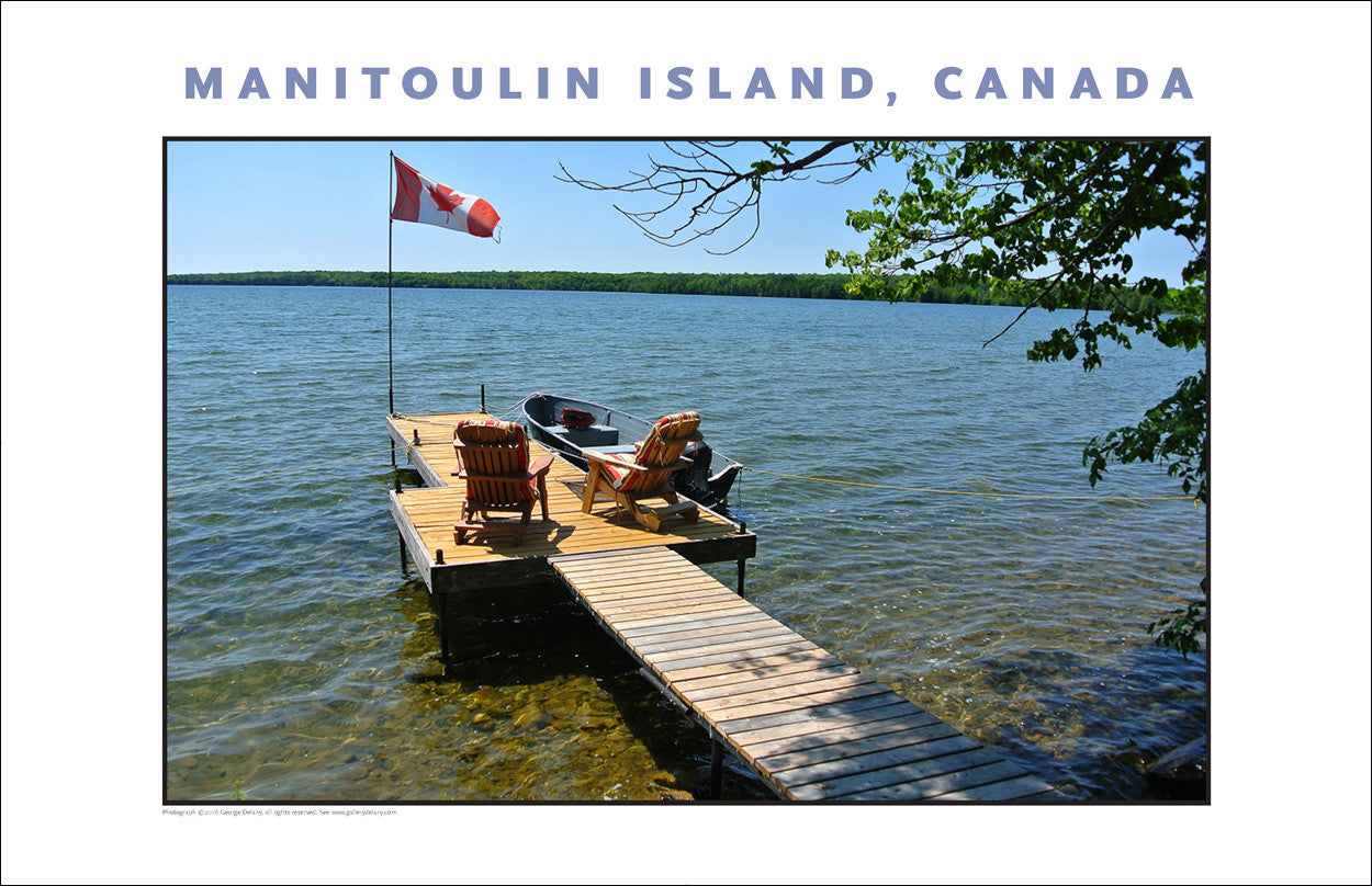 Celebrate Summer on Big Lake, Manitoulin Island Ontario Wall Art #959