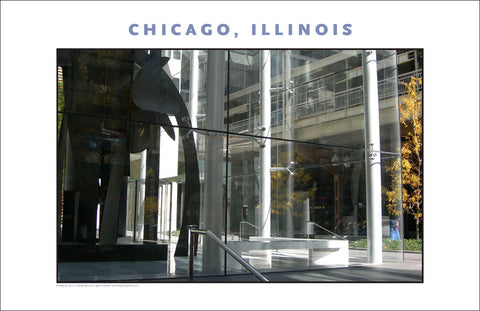 Corporate Sculpture in Glass, in Fall, Chicago, New Photo Wall Art #973