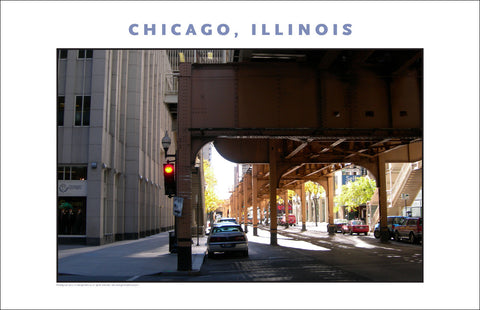 Under Famous Overhead Train Line, Chicago, New Photo Wall Art #974