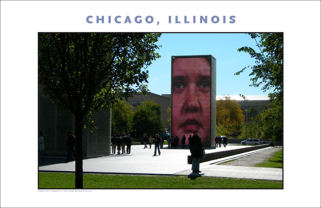 Human Face Scaled Up in Chicago Cityscape New Photo Wall Art #977