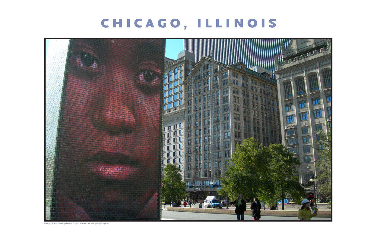 Talkin' to Me, in Chicago Cityscape New Photo Wall Art #979