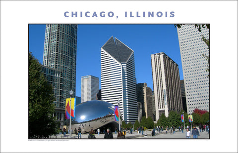 Great Cloudgate Sculpture in Chicago New Photo Wall Art #982