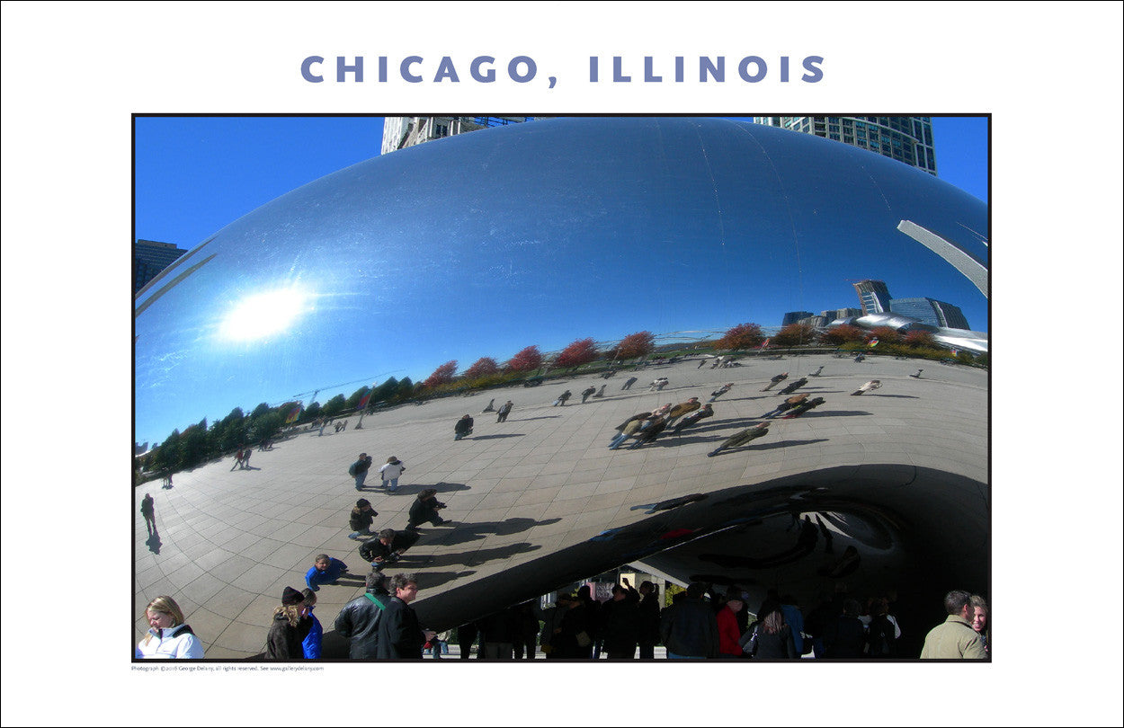 Cloudgate Close-Up Here in Chicago New Photo Wall Art #985