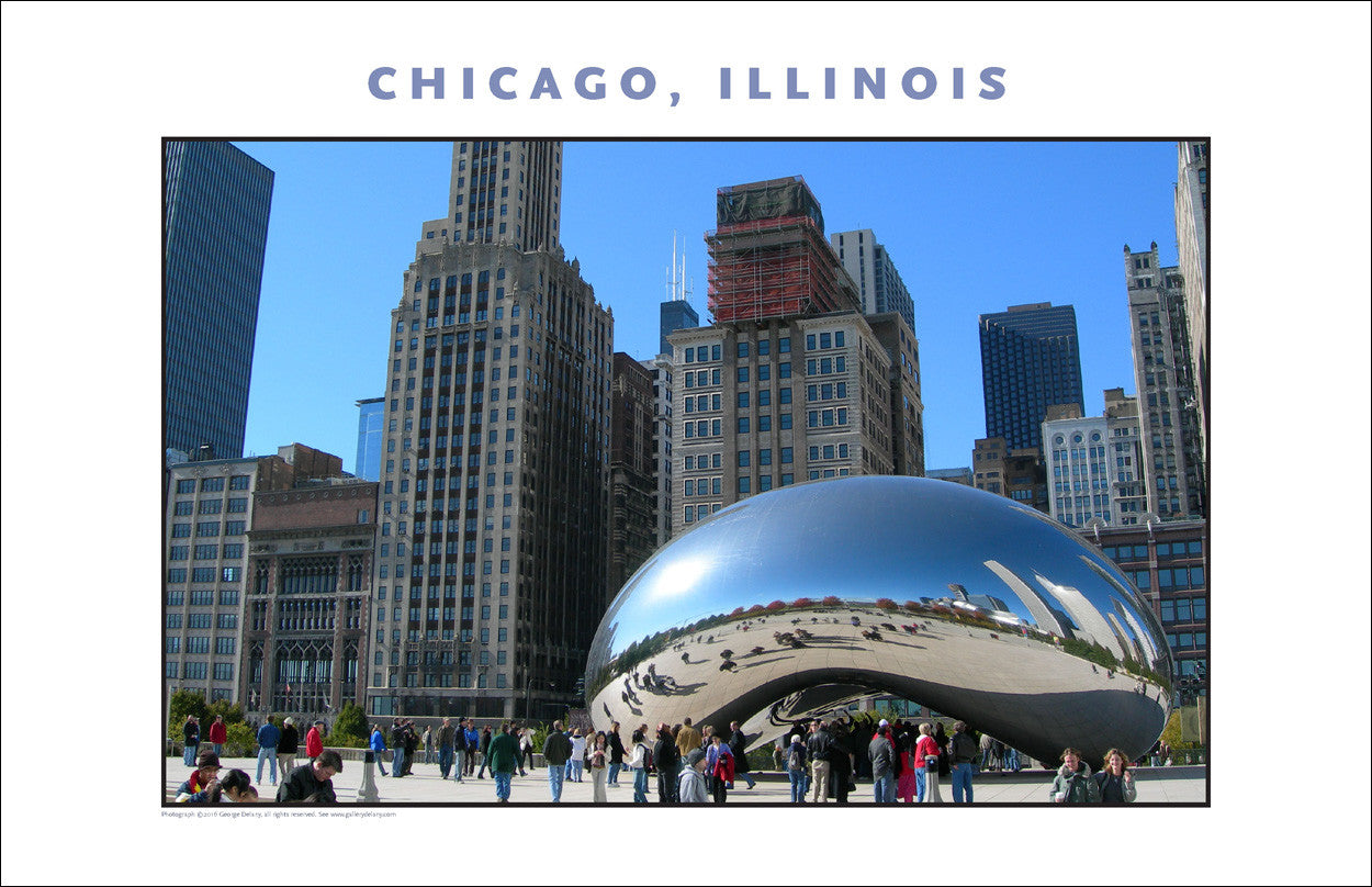 Cloudgate Has a Presence in Chicago New Photo Wall Art #987