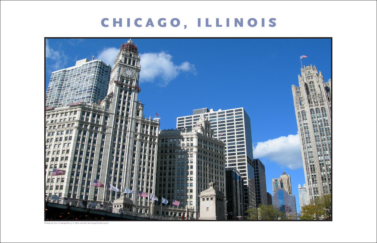 Patriotic Parade of Colors...Here in Downtown Chicago New Photo Wall Art #994