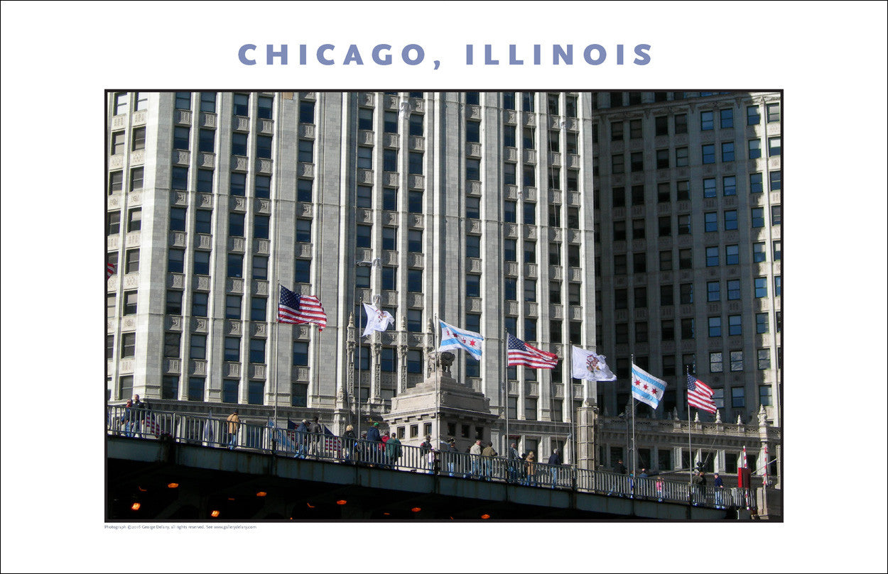 Patriotic Parade of Colors...Close-up Downtown Chicago Photo Wall Art #995