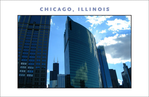 Gorgeous View of Great American Cityscape...Chicago Photo Wall Art #998