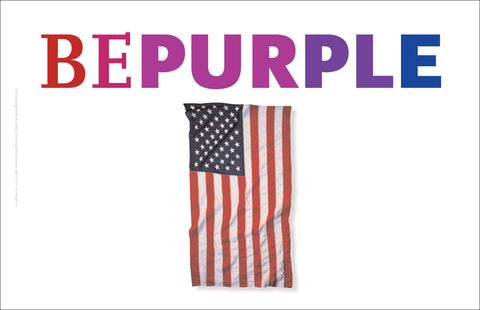 """Be Purple 1"", American Revival Series™, USA Wall Art A167"